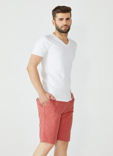 Sementa Erkek Sıfır Yaka Basic Tshirt - Beyaz Beyaz